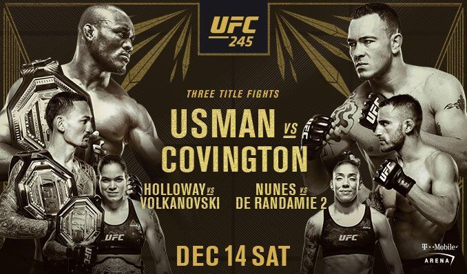 UFC 245 Daily Fantasy Picks